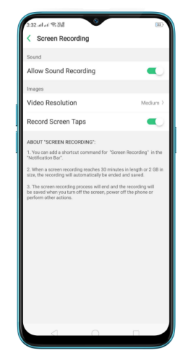 Let's enjoy the feature of Screen Recording in your realme device