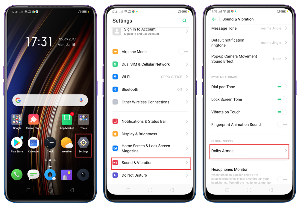 What is Dolby feature in realme X? - realme (India)